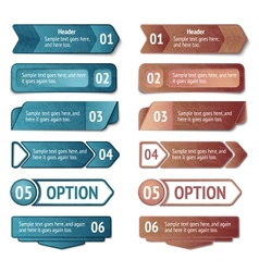 Retro cardboard infographics options vector