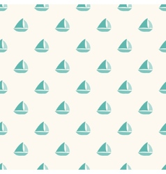 Seamless nautical pattern with small blue boats vector