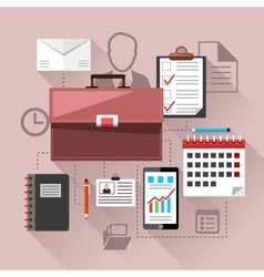 Modern business management elements vector