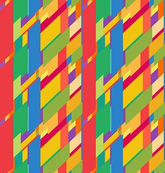 Flat colorful seamless pattern with skewed vector image