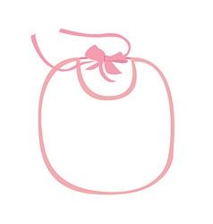 Pink baby bib vector