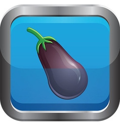 Egg plant icon vector