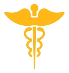 Caduceus icon vector