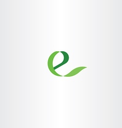 Eco green e letter icon e health logo vector