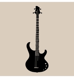 A silhouette of an electric guitar vector image vector image