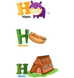 Alphabet letter - h vector