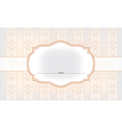 banner on the beautiful background vector image vector image