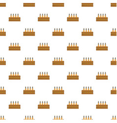 Beer crate pattern seamless vector