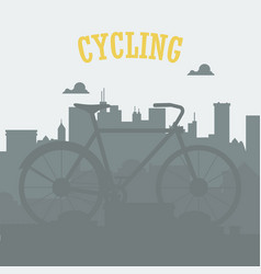 bicycle concept bicycle in the city urban vector image vector image