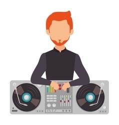 dj avatar silhouette icon vector image vector image