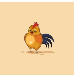 Emoji character cartoon cock sad and frustrated vector