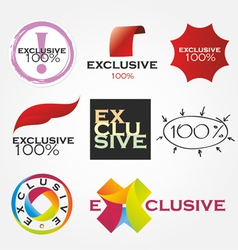 Exclusive company logos vector