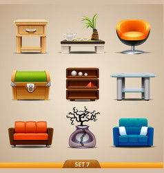 Furniture icons-set 7 vector
