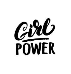 Girl power hand written lettering vector