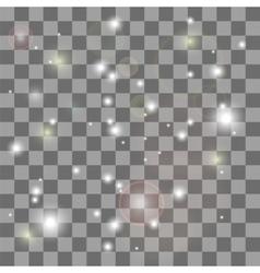 Glow Star Burst Light Effect vector image
