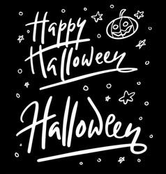 halloween party hand written typography vector image