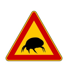 House dust mite warning sign vector