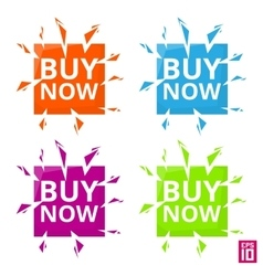 Label Buy now vector image vector image
