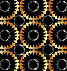 Metallic floral background vector