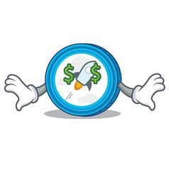 Money eye stellar coin character cartoon vector