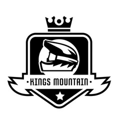 Monochrome logo mountain bike downhill freeride vector