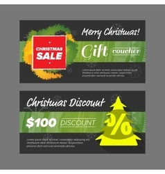 New year gift voucher vector image vector image