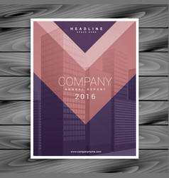 Purple pink arrow style business brochure design vector