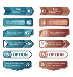 Retro cardboard infographics options vector
