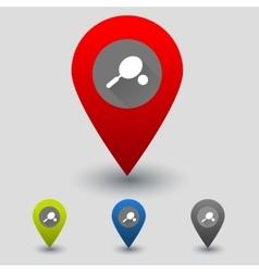 Rrcket and ball colorful navigation signs vector