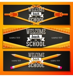 Set of school banners with place for your text and vector