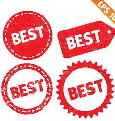 Stamp sticker Best tag collection - - EPS10 vector image