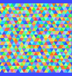 Triangle pattern seamless rainbow background vector