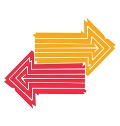 two arrows vector image vector image