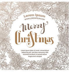 vintage merry christmas sepia background vector image vector image