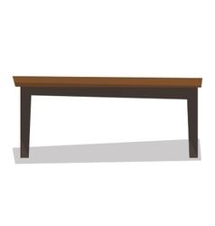 Brown wood coffee table vector image
