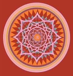Orange color mandala vector image