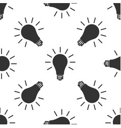 light bulb icon seamless pattern on white vector image