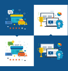 Learning success in education shop purchase vector