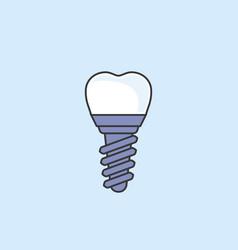 Dental implant - teeth prosthetics simple icon vector