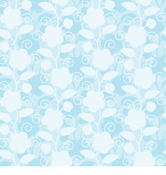 Seamless floral white blue background vector