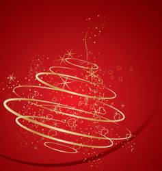 Abstract christmas decoration tree vector