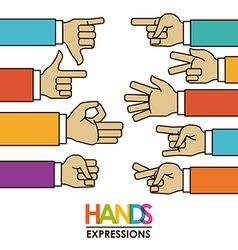 Hands signals vector