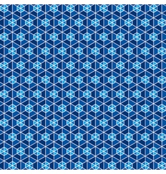 Blue hexagon pattern background stock vector