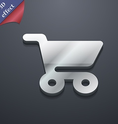 shopping basket icon symbol 3D style Trendy modern vector image