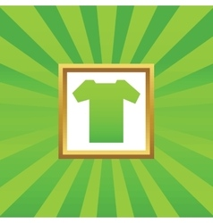 T-shirt picture icon vector