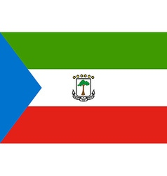 Flag of equatorial guinea vector