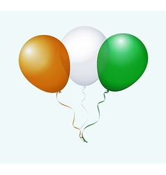 Balloons in as cote divoire national flag vector