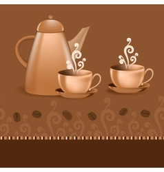 Seamless border coffee theme vector