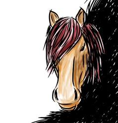 Horse head-shot vector image