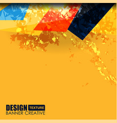 background yellow grunge texture vector image vector image